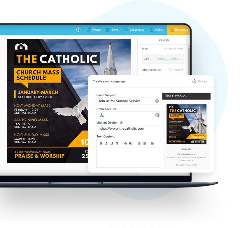 Send e-mail-kampagner med dine designs